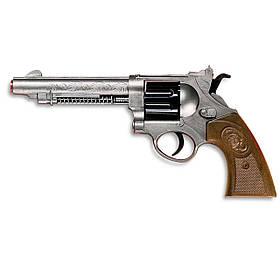Пистолет Edison Giocattoli West Colt 28см 8-зарядный с мишенью и пульками SKL17-139980