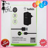 Адаптер 220V Belkin с кабелем айфон | Зарядное устройство в сеть Belkin lightning для iphone