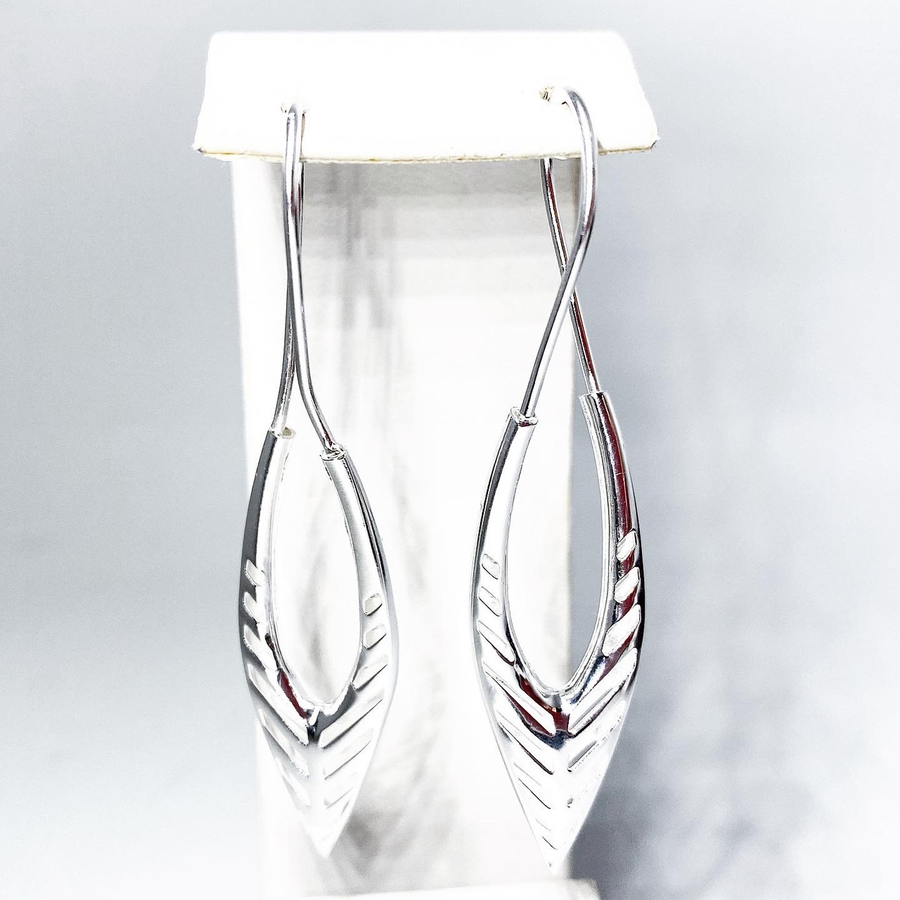 """Серьги подвески Beauty Bar из серебра модель """"кокошник"""""""