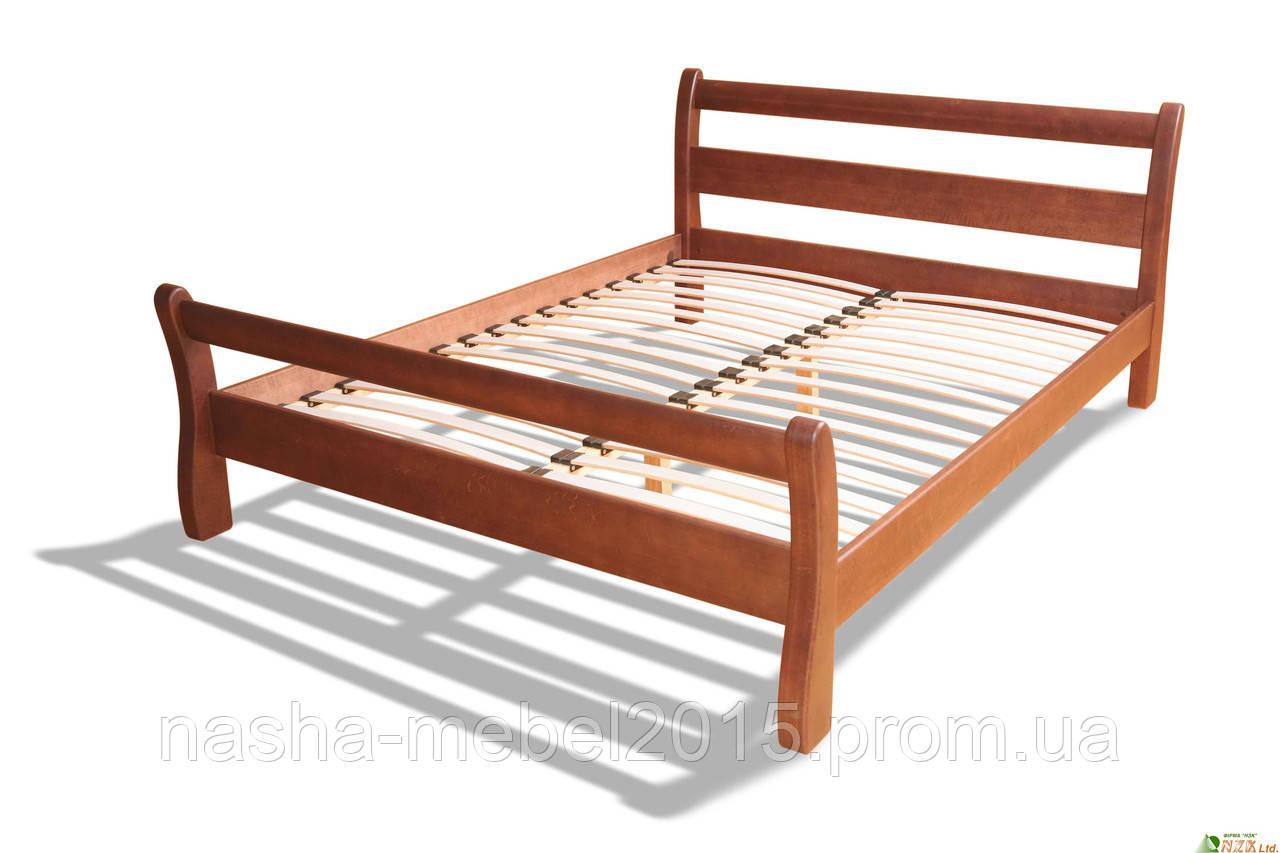 Полуторная Кровать деревянная Монреаль 1,4 ольха