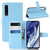 Чехол-книжка Litchie Wallet для Xiaomi Mi 9 Pro / Mi 9 Pro 5G Blue