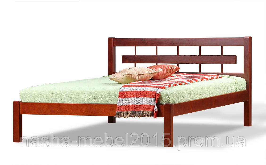 Полуторная Кровать деревянная Альмерия ольха 1,4м