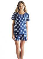 Красивый комплект для сна: шорты и футболка (S-XL)