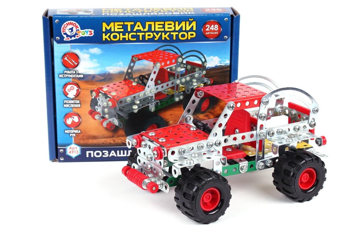 Конструктор металлический Внедорожник, 248 деталей Технок