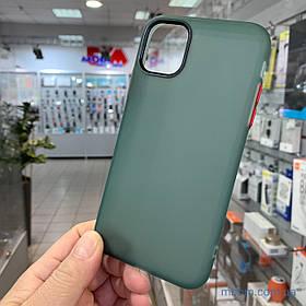 Чохол Epik Moon Eclipse iPhone 11 {6.1 *} темно-зелений / червоний