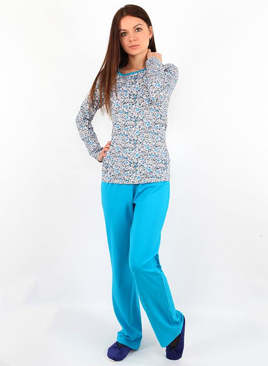 Ярка піжама жіноча з штанцями (S-XL)
