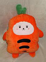 "Плед / подушка / муфта для рук ""Морковка"""