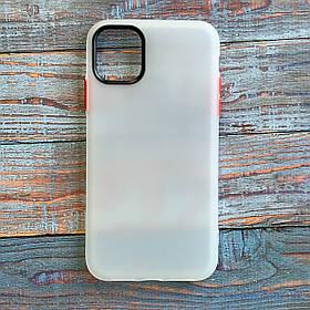 Чохол Epik Moon Eclipse iPhone 11 {6.1 *} білий / червоний