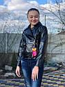 Подростковая куртка кожанка косуха черная, фото 3