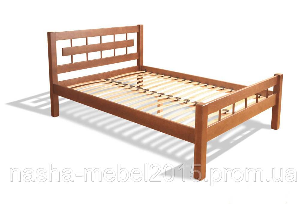 Полуторная Кровать деревянная Альмерия ясень 1,4м