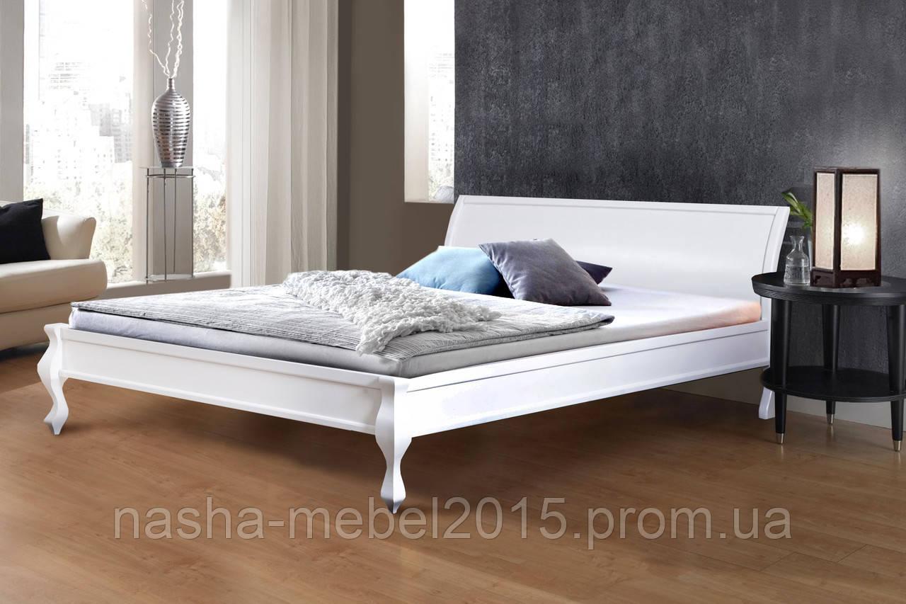 Кровать деревянная двуспальная Николь 1,8м белая