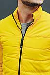 """Куртка мужская демисезонная без капюшона """"АРТ 067.07"""" желтая. Живое фото (весенняя куртка), фото 6"""