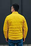 """Куртка мужская демисезонная без капюшона """"АРТ 067.07"""" желтая. Живое фото (весенняя куртка), фото 4"""
