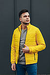 """Куртка мужская демисезонная без капюшона """"АРТ 067.07"""" желтая. Живое фото (весенняя куртка), фото 2"""
