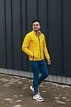 """Куртка мужская демисезонная без капюшона """"АРТ 067.07"""" желтая. Живое фото (весенняя куртка), фото 5"""