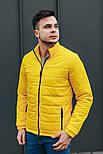 """Куртка мужская демисезонная без капюшона """"АРТ 067.07"""" желтая. Живое фото (весенняя куртка), фото 3"""