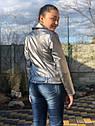 Підліткова куртка кожанка косуха графітового кольору, фото 3