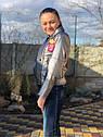 Підліткова куртка кожанка косуха графітового кольору, фото 2
