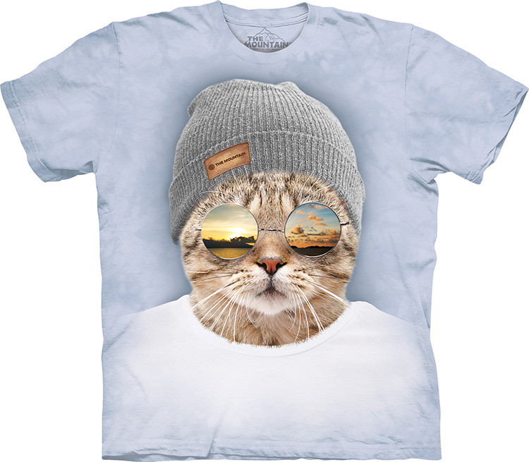 Футболка The Mountain Cool Hipster Cat 105948
