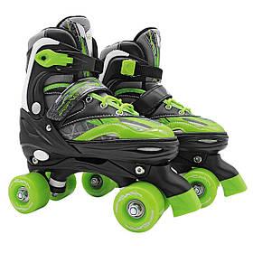 Роликовые коньки, квады SportVida SV-LG0038 Size 35-38 Black-Green SKL41-227910