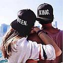 Комплект кепка снепбек King & Queen (Король и Королева) с прямым козырьком для двоих 2, фото 8