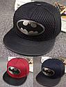 Кепка снепбек Бэтмен с прямым козырьком Черная 2, Унисекс, фото 2