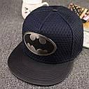Кепка снепбек Бэтмен с прямым козырьком Черная 2, Унисекс, фото 4