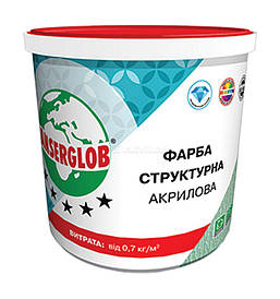 Краска Anserglob Структурная акриловая 14 кг