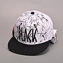 Кепка снепбек Black с прямым козырьком 2, Унисекс, фото 3