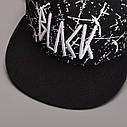 Кепка снепбек Black с прямым козырьком Белая 2, Унисекс, фото 4