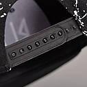 Кепка снепбек Black с прямым козырьком Белая 2, Унисекс, фото 5