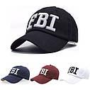 Кепка бейсболка FBI (ФБР) Черная 2, Унисекс, фото 2
