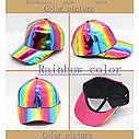 Кепка бейсболка Блестящая Голограмма Фиолетовая 2, Унисекс, фото 10