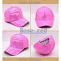 Кепка бейсболка Блестящая Голограмма Розовая 2, Унисекс, фото 3