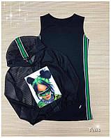 Стильный костюм для девочки платье с кроп-топом код 0044/1