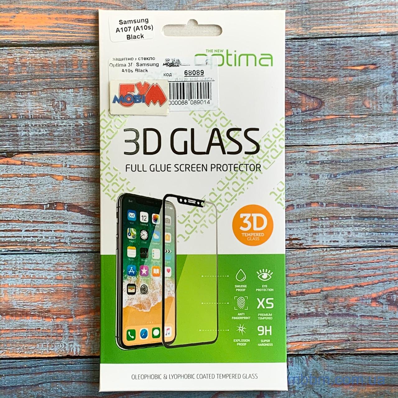 Защитное стекло Optima 3D Samsung A10s Black