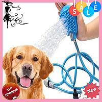 Перчатка для мойки животных Pet washer   Щетка душ для собак, кошек, фото 1