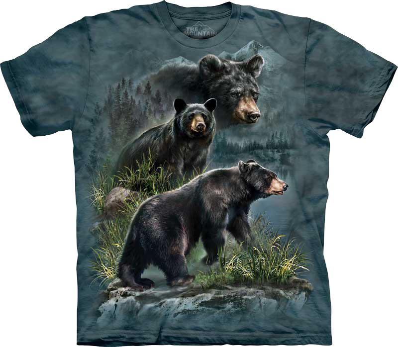 Футболка The Mountain Three Black Bears 103590