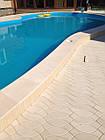 """Копинговый камень 42х50 см """"Капля"""" Бежевый бортовой для бассейна, фото 6"""