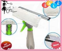 Щетка для мытья окон Easy Glass 3 in 1 Spray Window Cleaner   Щетка-водосгон с распылителем для окон