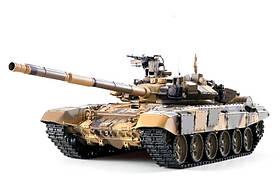 Танк Heng Long T-90 на радиоуправлении, масштаб 1к16 с пневмопушкой и и/к боем Upgrade SKL17-223437