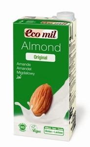 Молоко миндальное с сиропом агавы EcoMil, 1 л