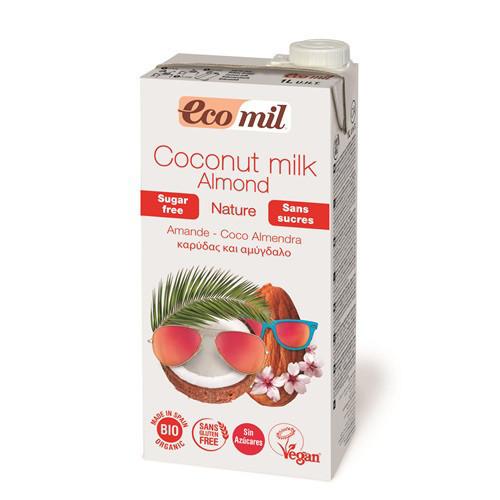 Молоко кокосове з мигдалем без цукру EcoMil 1 л