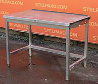 Стіл виробничий з нержавіючої сталі 120х65х90 див., (Україна), Б/у, фото 1