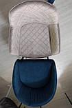 Стул барный ELBE (Эльбе) велюр синий Nicolas (бесплатная доставка), фото 4