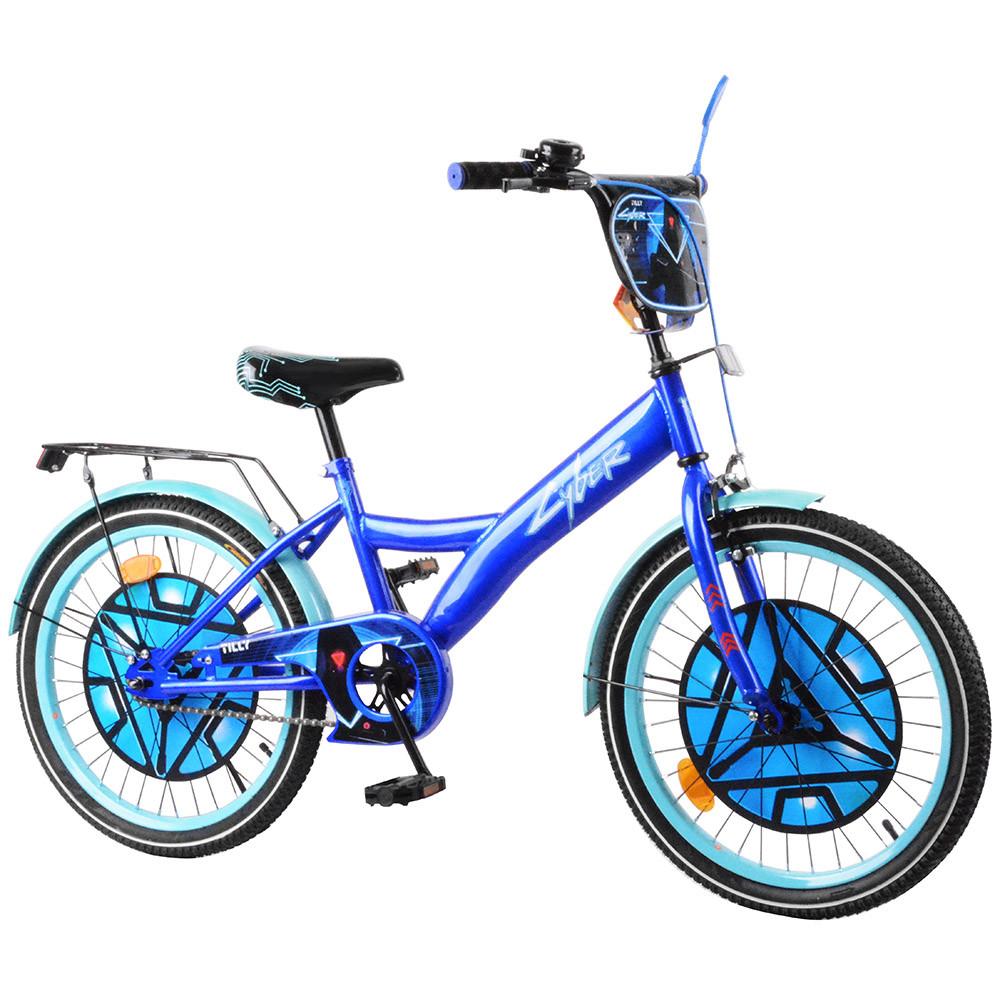 Велосипед детский двухколесный TILLY Cyber 20 дюймов T-220214 синий