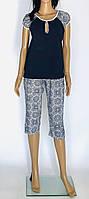 Трикотажная женская пижама с бриджами. Размер 50-58. Батал, фото 1