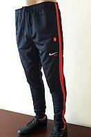 Спортивные штаны мужские с манжетами, трикотаж с полосой