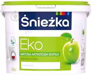 Краска акриловая Sniezka Eko для стен и потолков, 14 кг