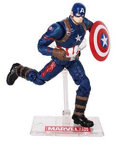 Фигурка Капитан Америка с держателем, Мстители, 18 см - Captain America, Avengers, Marvel SKL14-143465